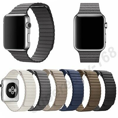 Genuine Leather Loop Magnetic Loop Watch Band For Apple Watch 42mm/38mm