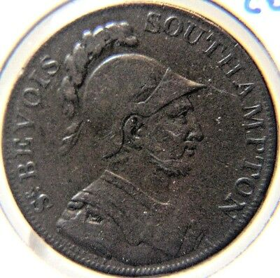 Conder Token # 3  - 1791 Sir Bevois Southampton 1/2 Penny - D & H 89