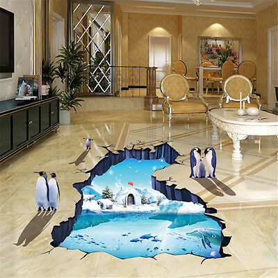 3D Polar Penguins Room Decor Removable Wall Sticker Decal Decoration Wandtattoo