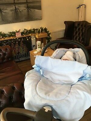 Rosy Fuentes Car Seat Cover In Pale Blue £40 (Rrp £69.99)