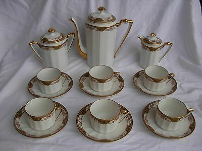 ANTIQUE LIMOGES PORCELAIN TEA SET,EARLY 20th CENTURY