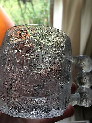 Antique Glass collectible McDonalds Mug - Flintstones