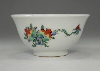 Antique Chinese famille verte porcelain cup in Qing #2555