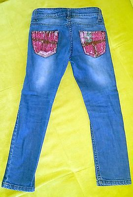 Jeans skinny con pailettes by Miss Blumarine Tg.6 anni