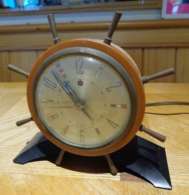 Seth Thomas Nautical / Maritime Desk or Shelf Clock