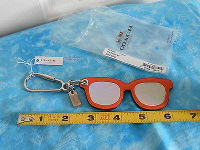 Authentic COACH Leather Sunglasses Bag Charm F54920 - NWT!