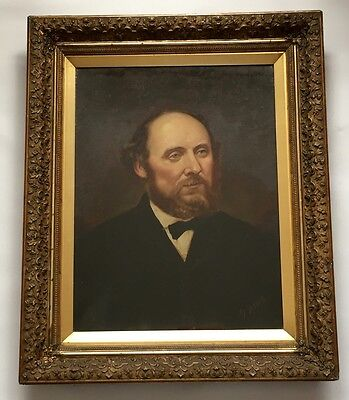 FINE 19Th CENTURY PORTRAIT OF A GENTLEMAN, oil painting in period gilt frame