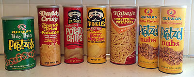 Vintage Snack Food Packaging - Pringles Quinlan Kobey's - Lot of 7 Containers
