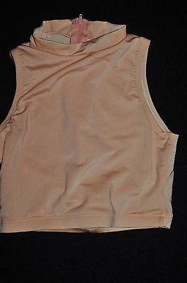 New Water Colour Adult size Petite Peach nylon spandex  Cheer Crop Dance Top