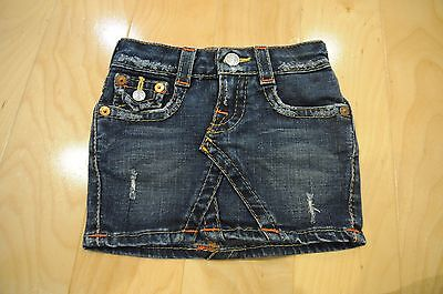 Authentic True Religion Toddler Girl's Jean Denim Skirt! Size 2T