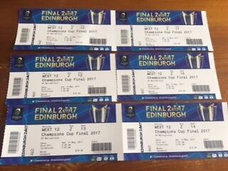 European Rugby Champions Cup Final 2017 Tickets x 6