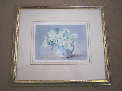 PRIMROSES - A FRAMED & SIGNED PRINT by ANNE COTTERILL
