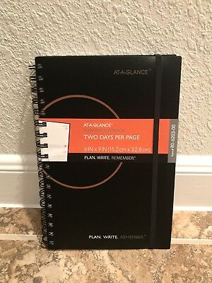 at a glance 2019 calendar planner weekly 2 days per page strap new