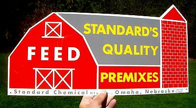 Vintage Standard's Premixes Cow Pig Chicken Feeds Farm Metal Sign - Omaha
