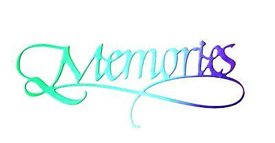 """Any Colour//Card! DV Word Sentiment 8 Small /""""Memories/"""" Die Cuts"""