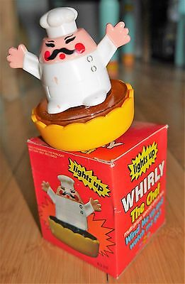 Vintage Marx Toys Whirly The Chef Spinning Toy Hong Kong 1980 Rare - Mint In Box