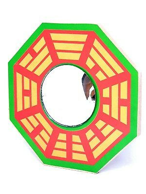 """Authentic 4.5"""" / 115mm Chinese Bagua Pa Kua True Convex Domed Mirror Feng Shui"""