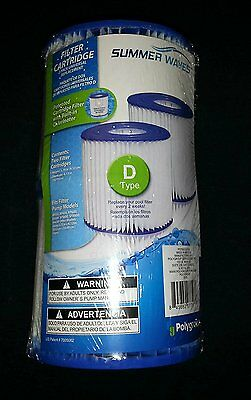 Summer Waves Universal Filter Cartridge Replacement D-Type 2 pack