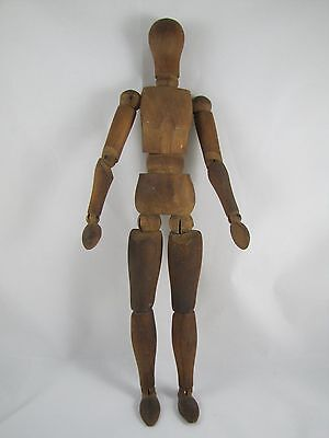 Antique Articulated French (?) Unisex Artist Wood Model