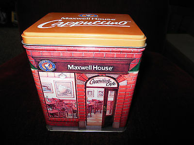 Maxwell House Cappuccino Cafe Tin – Collectible Canister