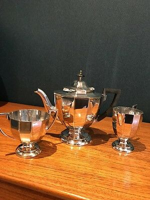 Tea & Coffee Pot Silver Plated (EPNS) Tea Set Circa 1920