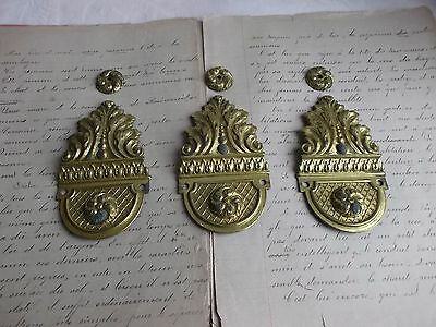 French antique / vintage brass  plaque  any decoration projects