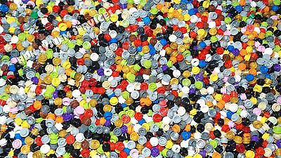 LEGO Bulk Lot of 55 1x1 Round Plate / Caps - Mixed Colors - 4073, 85861