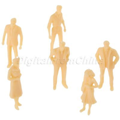 20 Play Game Plain People Figures Model Skin Colored Building Scenery Scale 1:50