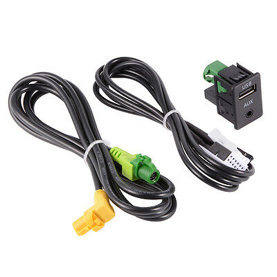 Aux In Switch + USB Connecting Wire Cable Adapter para BMW E87 E90 E91 E92 AC516