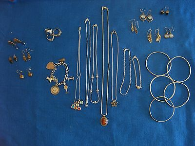 Large lot 157 g .925 sterling silver jewelry