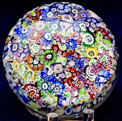 Alluring  PERTHSHIRE Scrambled Close Pack MILLEFIORI Art Glass PAPERWEIGHT