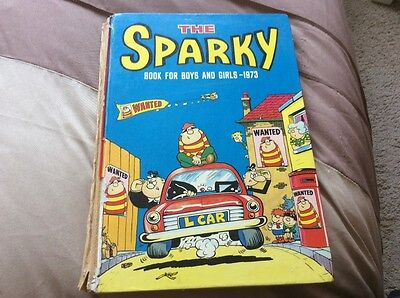 The Sparky Book For Boys And Girls 1973, Acceptable Condition Book, The Sparky B