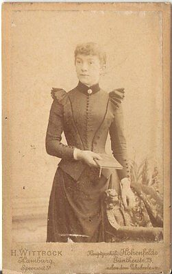 CDV photo Feine Dame - Hamburg 1890er