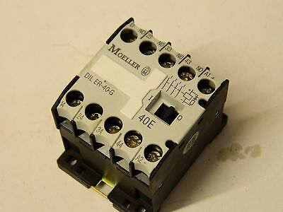 Moeller DIL ER-40-G 10A 4 polo Contactor N/O 24vdc Coil