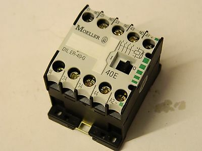 Moeller DIL ER-40-G 10A 4 polo Contactor N/O 24vdc Coil.
