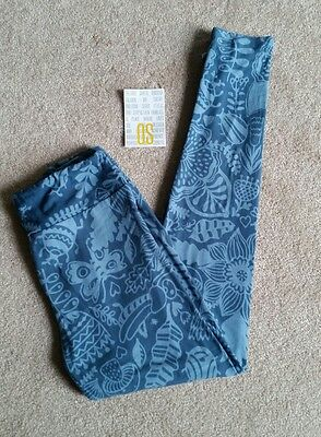 NWT Lularoe OS One Size leggings blue flowers butterfly ladybug leaves floral