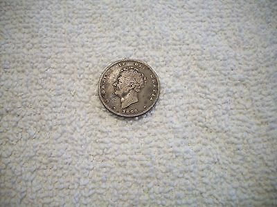 1826 Great Britain George IV Silver Shilling
