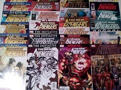 THE NEW AVENGERS x 26 MARVEL COMICS LOT