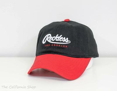 best service 928b4 e1775 Young   Reckless Big R Script Hat Cap Mens Black Adjustable Strapback New  NWT