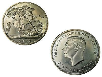 1951 Festival Of Britain King George Vi Crown Piece Coin, Km #880