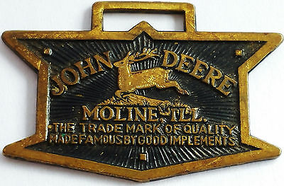 Vintage John Deere Watch Fob From Moline Ill
