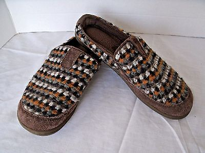 ACORN Women's Size 9 Wool Suede Trim Mules Slides Slippers Cute Casual & Comfy !