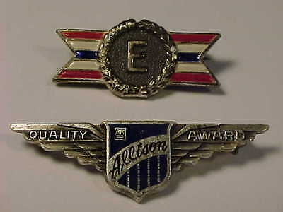 Rare WW2 Sterling Silver ALLISON GM Wings Award Pin General Motors Aviation Div