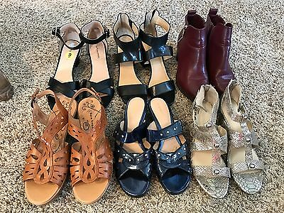 Lot of Women's Shoes Size 9, Gently Used, Most New, Sandals, Bootie