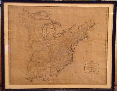 An Accurate Map of the United States 1794 Symonds after 1783 London W Indian Ter