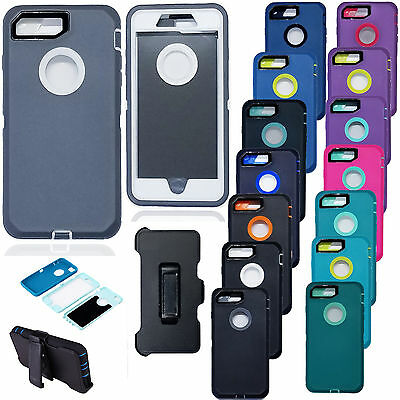 Armor Case Cover For iPhone X 8 7Plus (Belt Clip fits Otterbox Defender series)