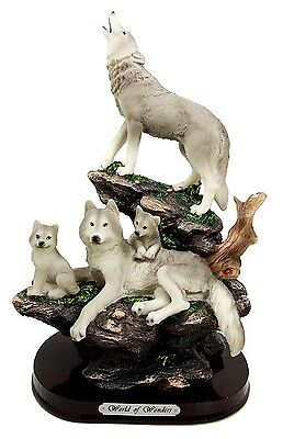 """12.5"""" Height Wolves Family Howling Wolf Pack World of Wonders Figurine Statue"""