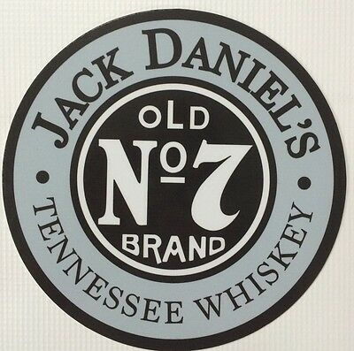 """Jack Daniels Old #7 Tennessee Whiskey 7"""" Diameter Tin Sign"""