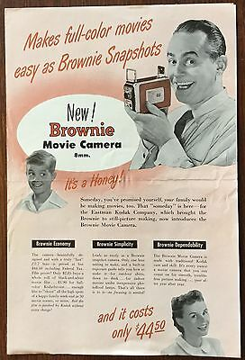 ORIGINAL VINTAGE 1950s KODAK DEALER CATALOG BROCHURE MAILING, CAMERAS, BROWNIE