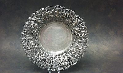 Vintage Silver Plated Reticulated Cherub Bowl Dish EPB Spain